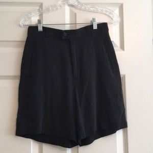 Vintage high waist silk shorts